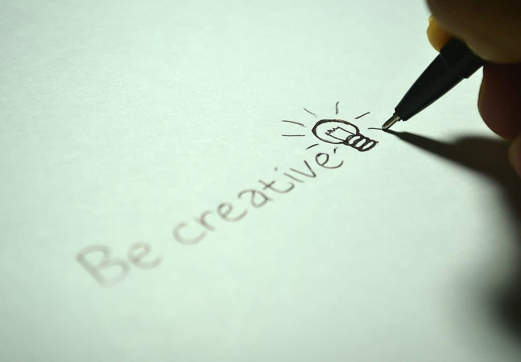 creative, be creative, write