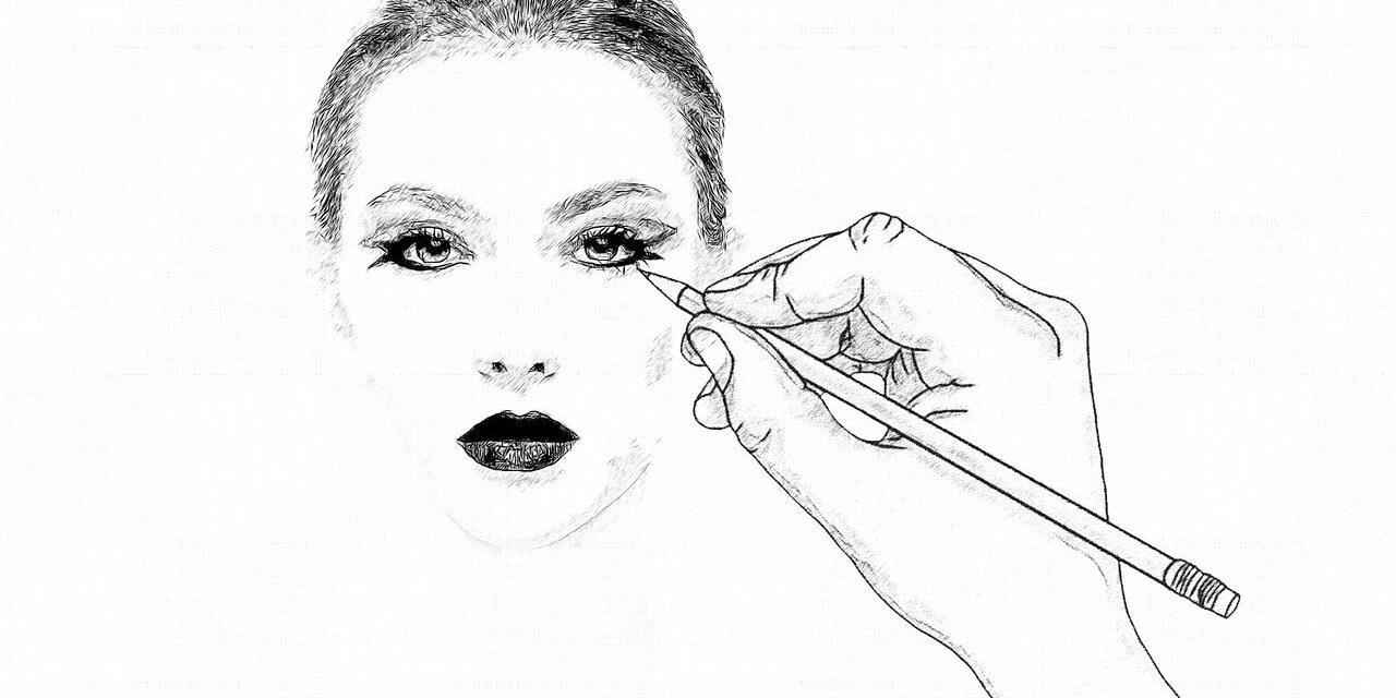pen, face, woman