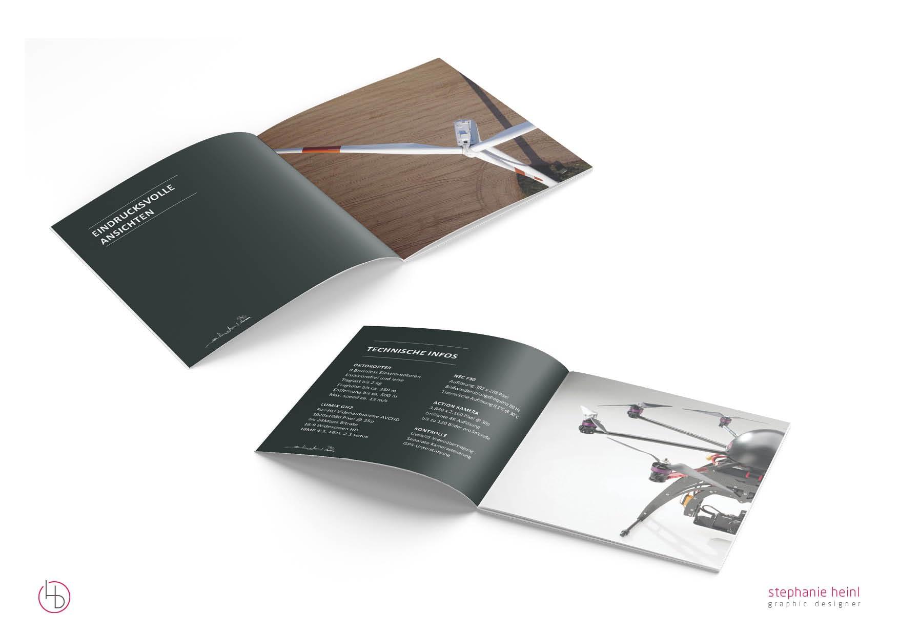 Referenz Printdesign Grafikdesign die überflieger broschüre