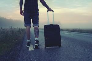hiker, traveler, trip