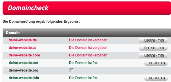 Domainprüfung