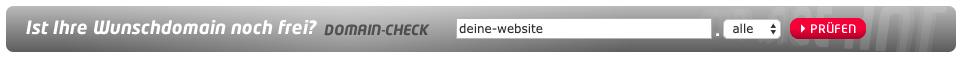 Domainüberprüfung Domain-Check